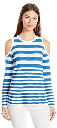 Heather B Women's Stripe Cold Shoulder