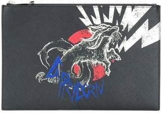 Givenchy capricorn printed clutch bag
