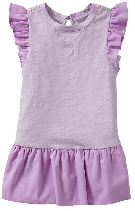 Gap Mix-fabric flutter dress