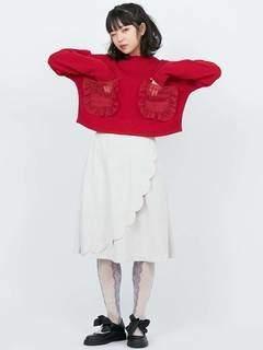merry jenny (メリー ジェニー) - スカラップミディスカート