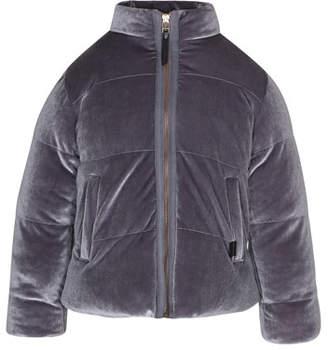Molo Hellen Velvet Puffer Jacket, Size 4-12