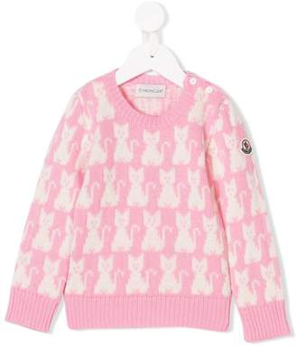 Moncler cat pattern sweater