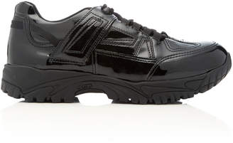 Maison Margiela Security Runner Faux Patent Leather Sneakers