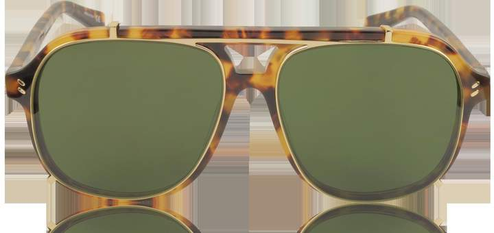 Stella McCartney SC0076S Aviator Shield Acetate Women's Sunglasses