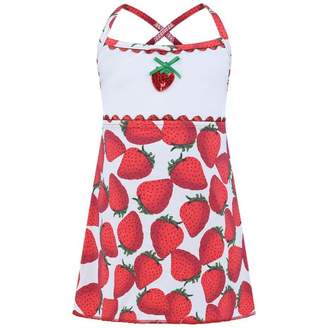 Pate De Sable Pate De SableRed Strawberry Print Beach Dress