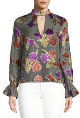 Saylor Mariel Floral Long-Sleeve Blouse