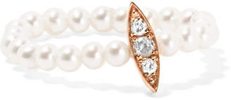 Anissa Kermiche - 14-karat Rose Gold, Pearl And Diamond Ring