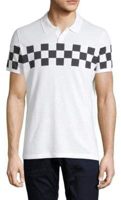 DSQUARED2 K-Checker Stripe Cotton Polo