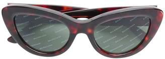 Balenciaga Eyewear diagonal logo stripe sunglasses