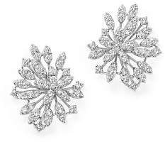 Bloomingdale's Diamond Floral Statement Earrings in 14K White Gold, 2.20 ct. t.w. - 100% Exclusive