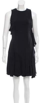 Alexander McQueen Ruffle-Trimmed Mini Dress