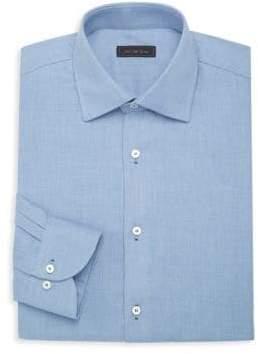 Saks Fifth Avenue Micro Diamond Travel Dress Shirt