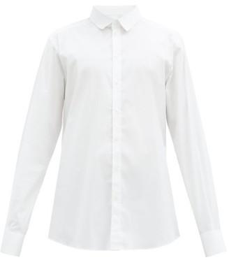 Dolce & Gabbana Gold Fit Cotton Blend Stretch Shirt - Mens - White