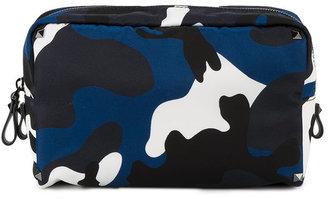 Valentino camouflage print washbag