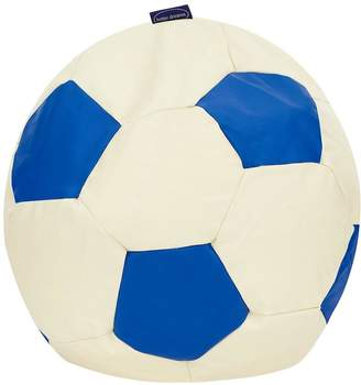 At Littlewoods Faux Leather Football Beanbag Blue