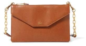 Ralph Lauren Saffiano Erika Crossbody Bag Lauren Tan One Size