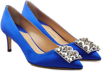 Paul Andrew Otto Embellished Satin Pumps