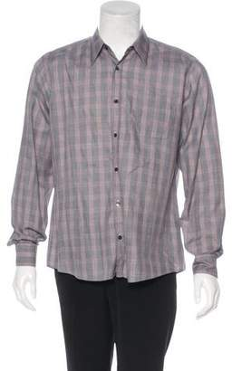 Dries Van Noten Plaid Woven Shirt