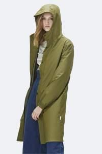 Rains Sage Fishtail Parka - XXS/XS - Green