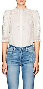 Ulla Johnson Women's Kinsey Floral Cotton Blouse-White