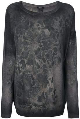 Avant Toi abstract pattern slim-fit jumper