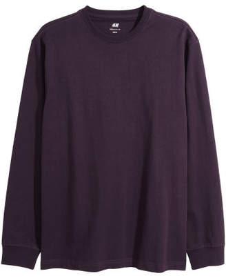 H&M Jersey Shirt Regular fit - Purple