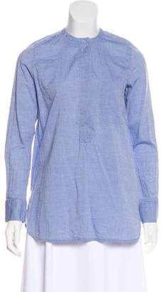 Vince Chambray Button-Up Top