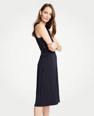 Ann Taylor Tall Side Tie Knit Flare Dress
