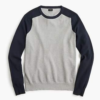 J.Crew Cotton-cashmere piquu0026eacute; crewneck baseball sweater