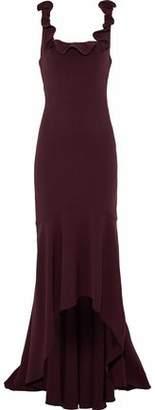 Cinq à Sept Asymmetric Ruffle-Trimmed Crepe Gown