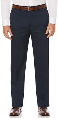 Savane Big & Tall Straight-Fit Crosshatch Stretch Flat-Front Dress Pants