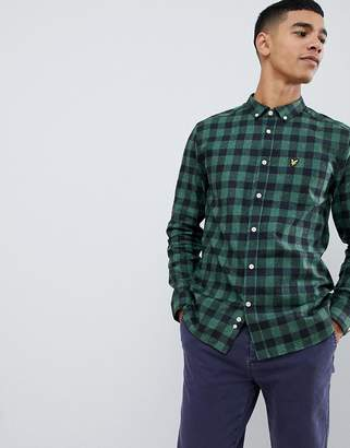 Lyle & Scott flecked check shirt