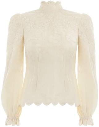Zimmermann Primrose Embroidered Top