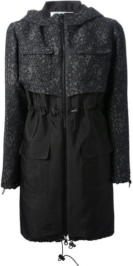 Kenzo zipped trench coat