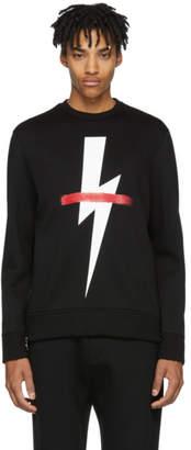 Neil Barrett Black Crossed-Out Thunderbolt Sweatshirt