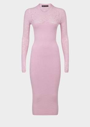 Versace Animalier Knit Midi Dress