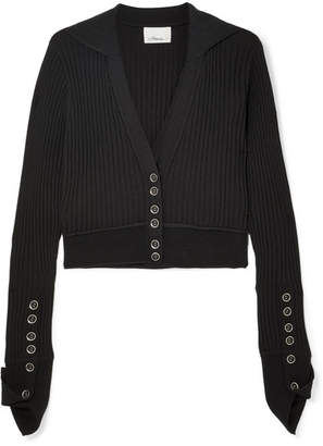 3.1 Phillip Lim Ribbed Wool-blend Cardigan - Black