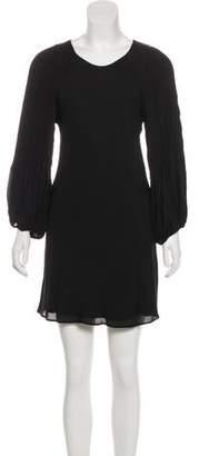 Alice + Olivia Long Sleeve Silk Mini Dress