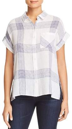 Velvet Heart Edison Short-Sleeve Button-Down Top