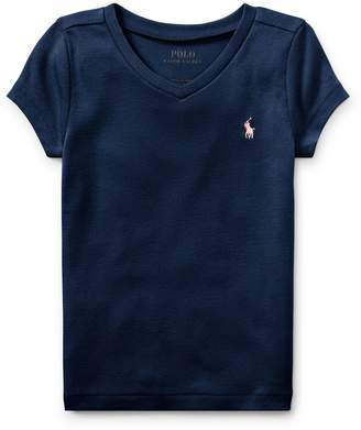 Ralph Lauren Cotton-Blend V-Neck Tee