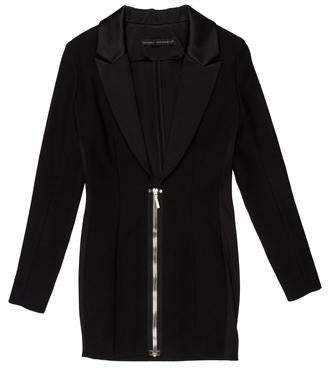 Anthony Vaccarello Structured Wool-Blend Mini Dress w/ Tags