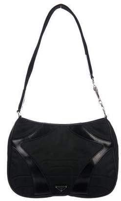 Prada Leather-Trimmed Quilted Tessuto Bag