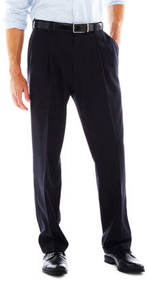 Haggar eCLo Stria Classic-Fit Pleated Dress Pants
