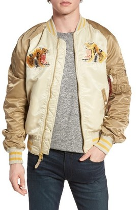 Men's Alpha Industries Reversible Tiger Souvenir Jacket $225 thestylecure.com