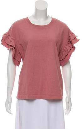 Current/Elliott Ruffle-Accented T-Shirt New w/ Tags