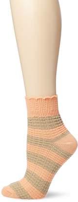 Lucky Brand Lucky Women's Scalloped Cuff Striped Sock
