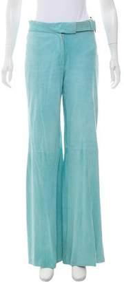 Gucci Wide-Leg Suede Pants