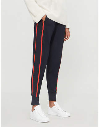 E.m. ME AND Side-striped modal-jersey jogging bottoms