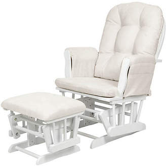 BEIGE Kub Haywood Glider and Footstool and white