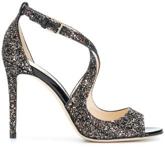 Jimmy Choo Emily 100 glitter sandals